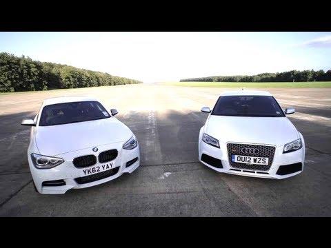 BMW M135i v Audi RS3: Road, Track, Drag-race. – CHRIS HARRIS ON CARS