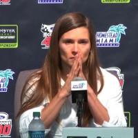 Danica Patrick gets emotional addressing media